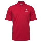 Red Mini Stripe Polo-University Mark Vertical
