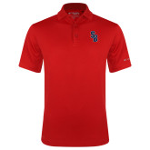 Columbia Red Omni Wick Drive Polo-Interlocking SB