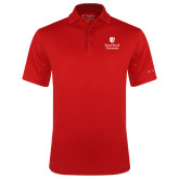 Columbia Red Omni Wick Drive Polo-University Mark Vertical