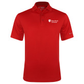 Columbia Red Omni Wick Drive Polo-University Mark Stacked