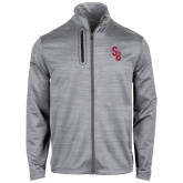 Callaway Stretch Performance Heather Grey Jacket-Interlocking SB
