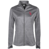Ladies Callaway Stretch Performance Heather Grey Jacket-Interlocking SB