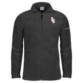 Columbia Full Zip Charcoal Fleece Jacket-Interlocking SB