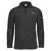 Columbia Full Zip Charcoal Fleece Jacket-Wolfie Head