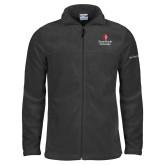 Columbia Full Zip Charcoal Fleece Jacket-University Mark Vertical