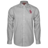Red House Grey Plaid Long Sleeve Shirt-Interlocking SB