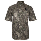 Camo Short Sleeve Performance Fishing Shirt-Interlocking SB