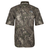 Camo Short Sleeve Performance Fishing Shirt-Wolfie Head