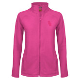 Ladies Fleece Full Zip Raspberry Jacket-Interlocking SB