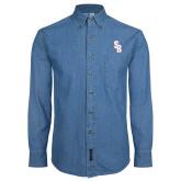 Denim Shirt Long Sleeve-Interlocking SB