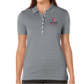 Ladies Callaway Opti Vent Steel Grey Polo-University Mark Vertical