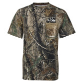 Realtree Camo T Shirt w/Pocket-Wolfie Head