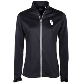 Ladies Callaway Stretch Performance Black Jacket-Interlocking SB