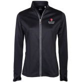 Ladies Callaway Stretch Performance Black Jacket-University Mark Vertical