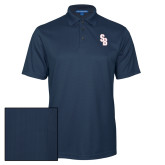 Navy Performance Fine Jacquard Polo-Interlocking SB