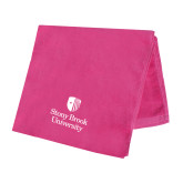 Pink Beach Towel-University Mark Vertical