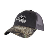 Mossy Oak Grey Mesh Back Structured Hat-Wolfie Head
