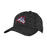 PosiCharge Charcoal/Black Electric Heather Snapback Hat-Wolfie Head