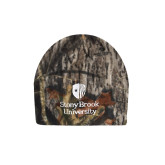 Mossy Oak Camo Fleece Beanie-University Mark Vertical