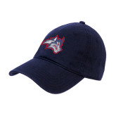 Navy Twill Unstructured Low Profile Hat-Wolfie Head