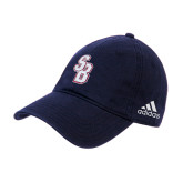 Adidas Navy Slouch Unstructured Low Profile Hat-Interlocking SB