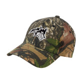 Mossy Oak Camo Structured Cap-Wolfie Head