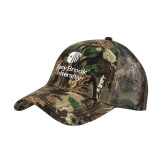 Mossy Oak Camo Structured Cap-University Mark Vertical