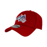 New Era Red Diamond Era 39Thirty Stretch Fit Hat-Wolfie Head