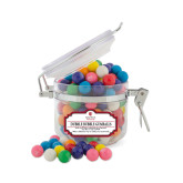 Dubble Bubble Gumballs Small Round Canister-University Mark Vertical