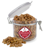 Cashew Indulgence Round Canister-University Mark Vertical