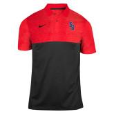 NIKE Sideline Black/Red Early Season Polo-