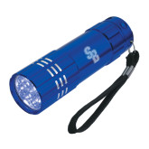 Industrial Triple LED Blue Flashlight-Interlocking SB  Engraved