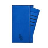 Parker Blue RFID Travel Wallet-Interlocking SB  Engraved