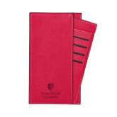 Parker Red RFID Travel Wallet-University Mark Vertical Engraved