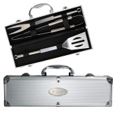 Grill Master 3pc BBQ Set-University Mark Stacked  Engraved
