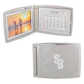 Silver Bifold Frame w/Calendar-Interlocking SB  Engraved