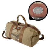 Canyon Realtree Camo Canvas Duffel-University Mark Vertical Engraved