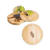 7.5 Inch Brie Circular Cutting Board Set-Interlocking SB  Engraved