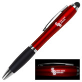 LIGHT UP LOGO Red Stylus Pen-Interlocking SB Stony Brook Seawolves  Engraved