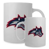 Full Color White Mug 15oz-Wolfie Head