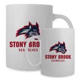 Full Color White Mug 15oz-Wolfie Head and Stony Brook Seawolves