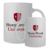 Full Color White Mug 15oz-University Mark Vertical