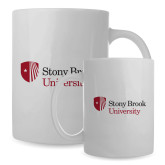 Full Color White Mug 15oz-University Mark Stacked