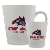 Full Color Latte Mug 12oz-Wolfie Head and Stony Brook Seawolves