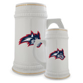 Full Color Decorative Ceramic Mug 22oz-Wolfie Head