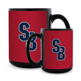 Full Color Black Mug 15oz-Interlocking SB