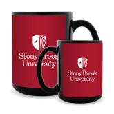 Full Color Black Mug 15oz-University Mark Vertical