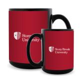 Full Color Black Mug 15oz-University Mark Stacked