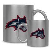 Full Color Silver Metallic Mug 11oz-Wolfie Head