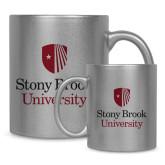 Full Color Silver Metallic Mug 11oz-University Mark Vertical